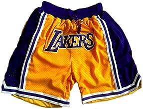 SPORTS Mannen Jersey Lakers James Basketbal Broek # 23 Heren Shorts Geel Borduurwerk Training Wedstrijd Cropped Broek