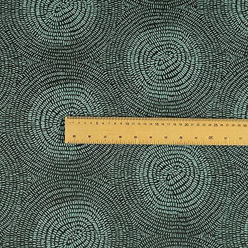 New Furnishing Fabrics Tela para tapicería con Textura de Chenilla, diseño Circular, Color Azul Claro, Chenilla, Azul, 10cm x 8cm Sample