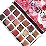 Paleta de sombra de ojos profesional DGAFO, paleta de sombra de maquillaje definitiva con 18 sombras, brillo y mate, acabado Individual