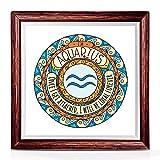 Gifty Aquarius Geschenke und inspirierende Geschenke - Einzigartiges Sternzeichen-Wanddeko, Frauen, 17,8 x 17,8 cm Tierkreiszeichen