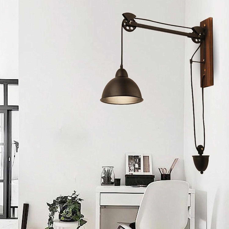 LianLe Vintage Wand Sconce Industrial Wandleuchte Swing Arm Wandleuchte Retro Loft Sconce Dekoration für E27   E26 Birne