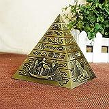 BZEAA Adornos Egipcio Metal Faraón Khufu Pirámides Figurine Pyramid Edificio Estatua Estatua Miniaturas Inicio Oficina Decoración De Escritorio Regalo Souvenir (Color : B1)