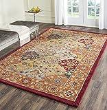 Safavieh Heritage Collection HG510B Handmade Traditional Oriental Premium Wool Area Rug, 6' x 9', Multi / Red