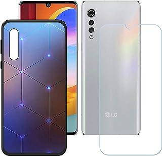 LMLQSZ Fodral för LG Velvet 2 Pro + HD pansarglas, mjukt mobiltelefonfodral silikon skyddsfodral TPU Case mobiltelefon väs...