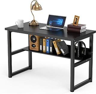 "DEWEL Computer Desk Bookshelf Office Desk Writing Workstation 2 in 1 Desk Bookcase PC Laptop Study Table Home Office (47"" ..."