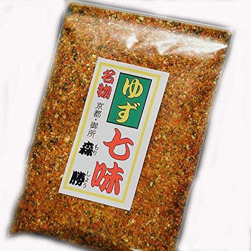 京都森勝 オリジナル 辛子調味料 お得用パッケージ ゆず七味 65g 袋入 (01:中辛)