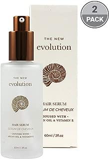 Evolution Argan Oil Serum For Hair - Vitamin E Hair Serum To Soften Dry Hair - Nourishing Serum For Hair Straightening - Oil Hair Serum With Aloe Vera (2 Pack)