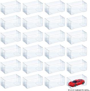 MITUKE ミニカー ケース 24個 クリア ケースプロテクター 保管 収納 コレクション 【41x43x82mm/24個 セット】