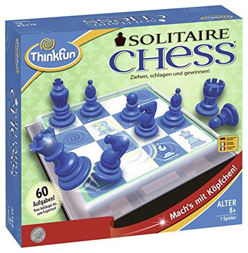 ThinkFun 76325 Solitaire Chess - Juego de Mesa (Contenido en alemán)