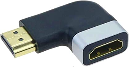 Audio Fan HDMI Adapter Right Angle 9 Pin Male to Female 9 Degree Right Angle Connector Support 2K 4K 60P