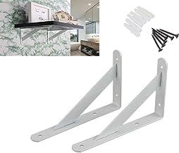 Zware plank beugels drijvende planken statief driehoek plank beugel hoek steun muur opknoping door Ouvin 30cm Kleur: wit