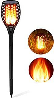 Aityvert Upgraded Solar Torch Lights 43 inches Flickering Dancing Flames Solar Torches Outdoor Waterproof Landscape Lighting Dusk to Dawn Auto On/Off Solar Lights for Yard Garden Patio Pool 1-Pack