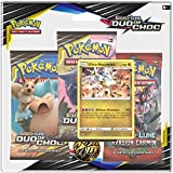 Pokemon- Modèle aléatoire Soleil et Lune-Duo de Choc (SL09) -Pack 3 boosters, 3PACK01SL09, Cartes à...