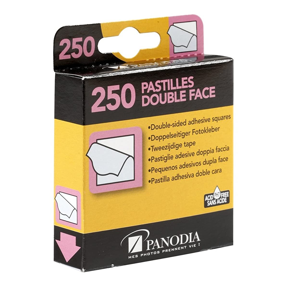 Panodia 270890 Box 250 Double-Sided Adhesive Stickers