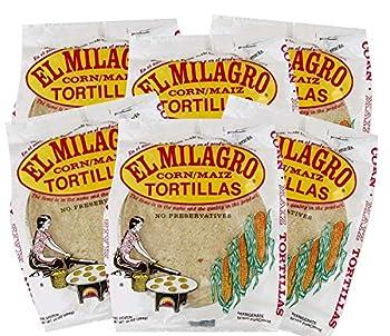 El Milagro Classic Corn Maiz Natural Soft Tortillas - 6 Pck