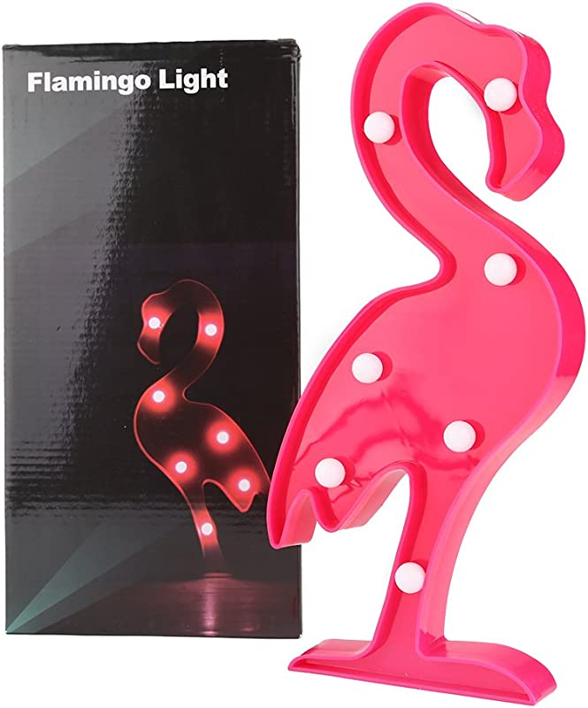 Aiernuo Tropical Plastic Flamingo LED Lights Birthday Party Wedding Decor Lamp Kids Room Living Room Decorative Art Deco Flamingo Party Light