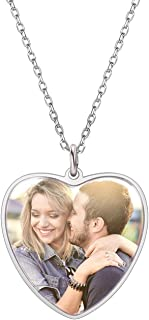 heart shaped necklace with picture