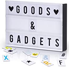 GOODS+GADGETS Led-lichtbox Blockbuster lichtbox lichtbox + USB-voeding + 204 letters & tekens