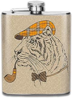 Frasco de Alcohol Presock, Tiger Detective 304 Food Grade Stainless Steel Flask 7 Oz Best Birthday Gift Present for Women Men