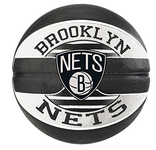 Spalding NBA Team Brooklyn Nets Ball Basketball, Mehrfarbig, 7