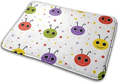 Door Mats Happy Smiling Beetles Floor Mat Indoor Outdoor Entrance Bathroom Doormat Non Slip Washable Welcome Mats Decor 23.6 x 15.7 inch