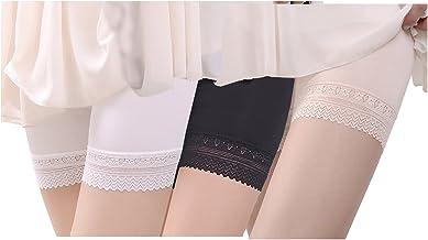 Magilona 3 pares de mujeres niñas estiramiento Ultra debajo de la falda pantalones cortos de seguridad pantalones de baile...