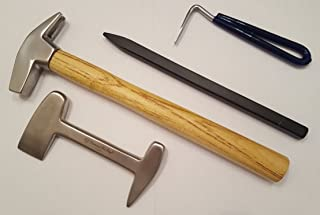 Diamond Cut Edge Professional Farrier's Hoof Trimming Tools Clinch Cutter Pick Hammer Pritchel Durable Construction