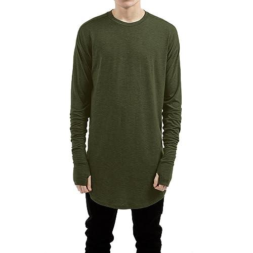 ee5d6dc327c LILBETTER Mens Thumb Hole Cuffs Long Sleeve T-Shirt Basic Tee