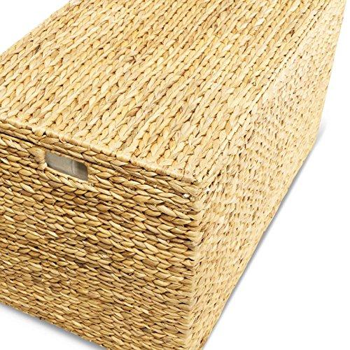 Wäschekorb JONAS XL, 100x55x60 cm (L/B/H), Wäschebox, inkl. Wäschesack aus Baumwolle, XXL Wäschetruhe, Volumen: ca. 330 Liter - 4