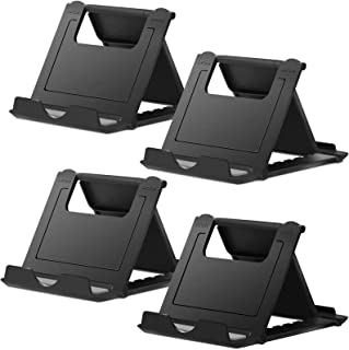 """Cell Phone Stand,4 Pack Tablet Stand,Universal Foldable Multi-Angle Pocket Desktop Holder Cradle for Tablets(6-11""""),iPhone..."""