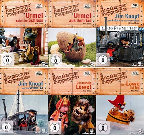 Augsburger Puppenkiste: Urmel (Schloss + Eis) + Jim Knopf (Lukas + Wilde 13) + Gut gebrüllt Löwe + Der Löwe ist los [6-DVD]
