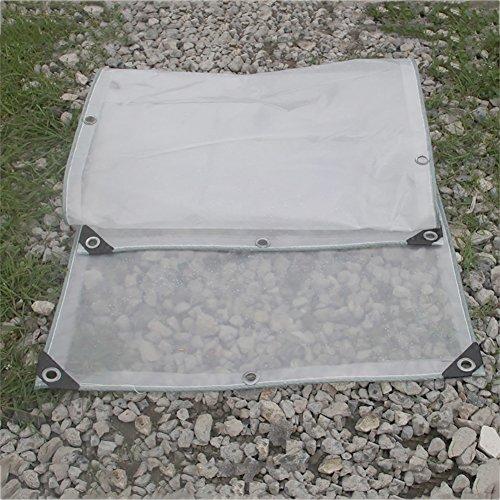 Bâche Transparente de Double Couche épaissir la fenêtre de Tissu imperméable de fenêtre de Balcon imperméable à l'eau de de Coupe-Vent, 200g / m² (Taille : 2 * 2m)