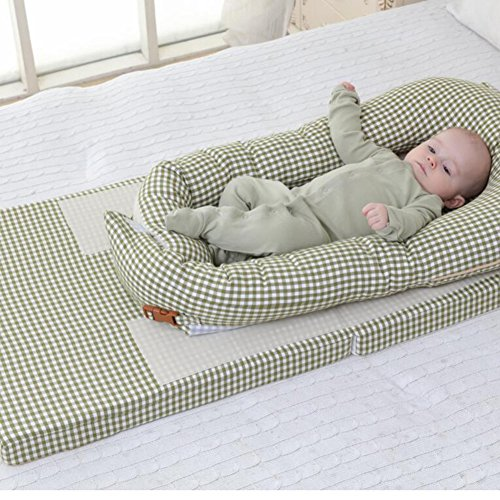 Great Price! YBDXMM Portable Multifunctional Cribs,Foldable Co-Sleeping Travel Bed Baby Bed Breathab...