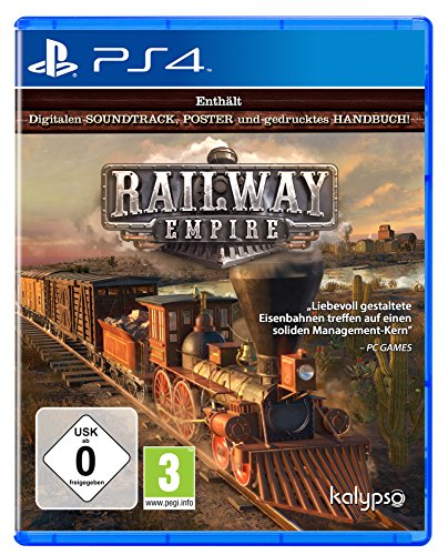 Kalypso Railway Empire, PS4 Básico PlayStation 4 Alemán vídeo - Juego (PS4, PlayStation 4, Estrategia)