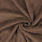 Fabulous Fabrics Teddy Plüsch Kuschel braun — Meterware