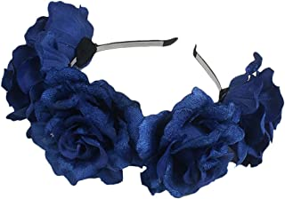 Zhhlinyuan Fashion Flores Accessory Gift Women Fake Flowers Hair Dress Up Wedding Hairpin Headband Flowers Girl