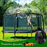 PQWQP Trampoline Sprinkler for Kids, Fun Summer Outdoor Water Play Sprinkler for...