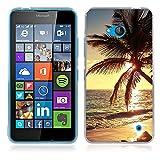 FUBAODA Coque pour Nokia Microsoft Lumia 640, Belle et Romantique série Paysage Étui TPU Silicone élégant et Sobre pour Nokia...