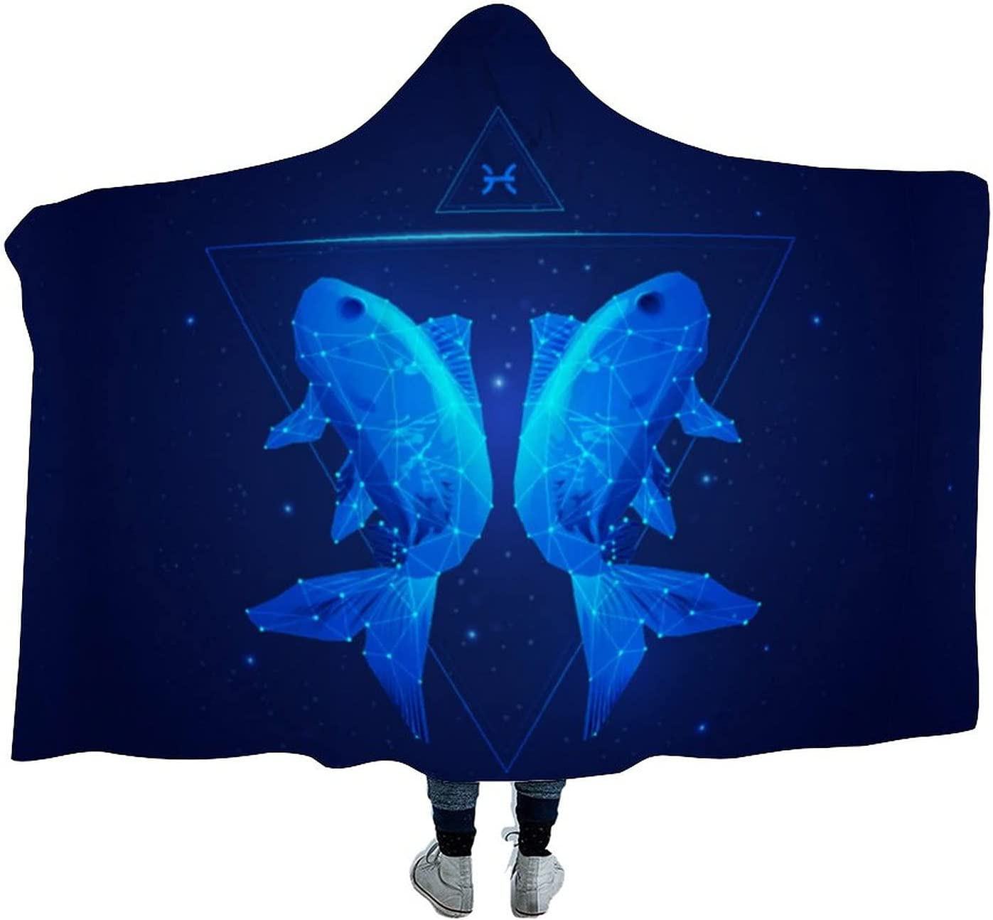 Pisces Wearable Velvet Hooded Throw Dur Clearance SALE Limited time Soft Super Warm Phoenix Mall Blanket