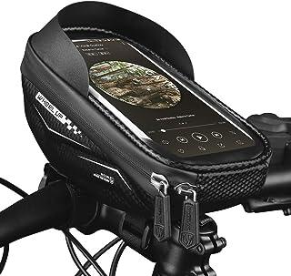 Andoer Bolsa com estrutura de bicicleta Bolsa para tubo frontal Bolsa para guiador Bolsa para bicicleta com capa de telefo...