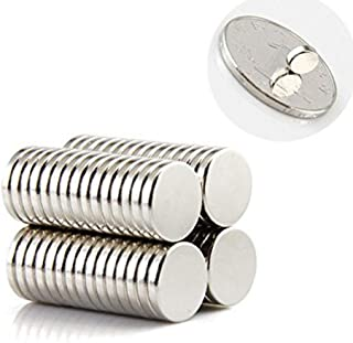 Small Multi-Use Refrigerator Magnets for Refrigerator, Science, Crafts - Tiny Round Disc, Sliver, 5mm x 1mm(0.2 inch), 200 Pcs