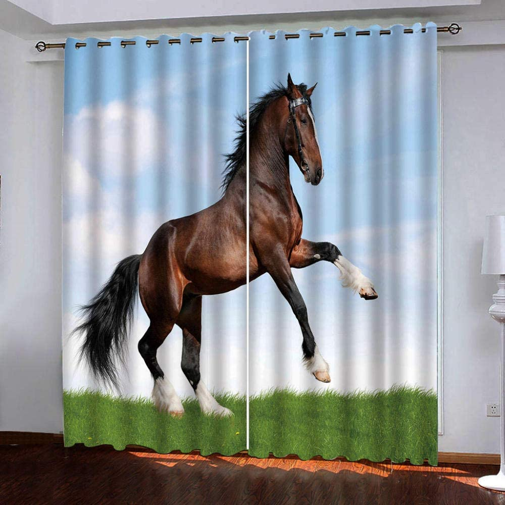 Blackout Thermal Backed Curtains Animal Wall Sale Horse Ranking TOP19 Total Privacy
