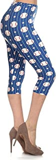 Leggings Depot Capri REG/Plus Women's Buttery Popular Prints BAT6