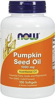Now Pumpkin Seed Oil 1000 mg,100 Softgels