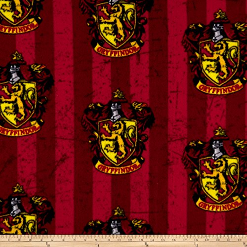 CAMELOT Fabrics Harry Potter Gryffindor Fleece Multi Fabric by The Yard,