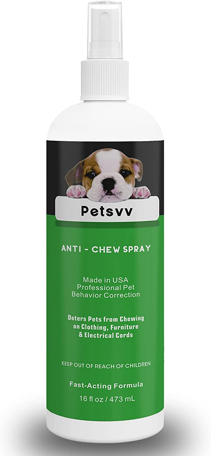 No Chew Spray for Dogs and Puppies, Anti Chew Spray for Dogs, Bitter Dog Deterrent Spray to Stop Chewing on Furniture - 16oz