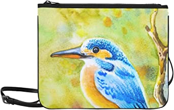 Watercolor Landscape Original Painting On Paper Co Pattern Custom High-grade Nylon Slim Clutch Bag Cross-body Bag Shoulder Bag
