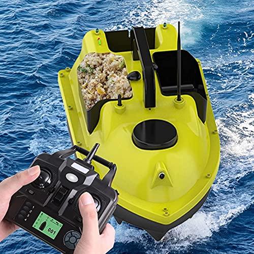 WSVULLD GPS Pesca Bait Boat, Barco de cebo de pesca inteligente con 3 Hoppersheavy Cargar 2kg, control remoto y luz de la versión de la noche, el buscador de pescado utilizado para PUT BAIT HOOY ASIST