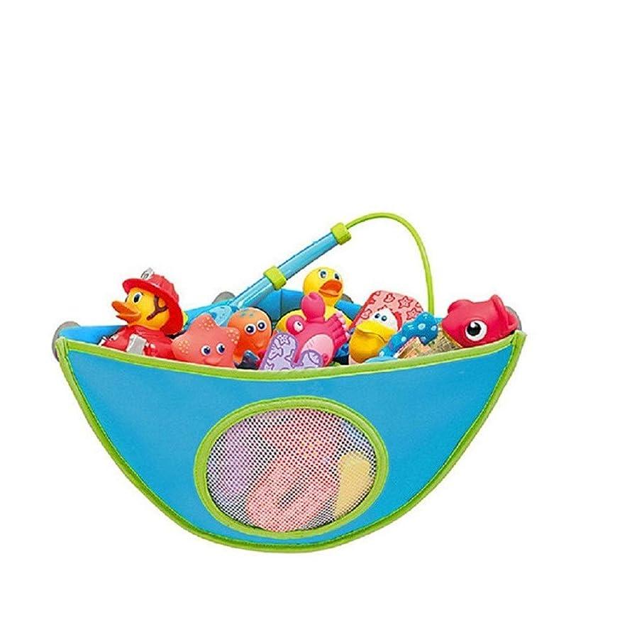 労苦手危険を冒します家庭用浴室吊りバッグ、子供のおもちゃ収納吊りバッグ、防水、オックスフォード布おもちゃ吊りバッグ (Color : Light blue)