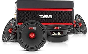 $299 » DS18 Car Audio Door Speaker Combo with Amplifier - 4 x 6.5 Bullet Midrange PRO-GM6B Speakers with 4 Channel Class D Amplif...